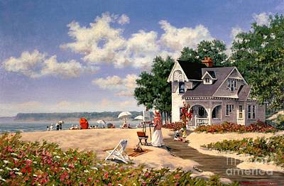 Beach Days Print by Michael Swanson