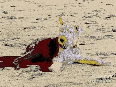 Beach Dog 7 Print by Nina Kaye