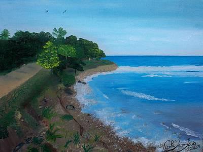 Jacmel Painting - Beach Erosion by Nicole Jean-Louis