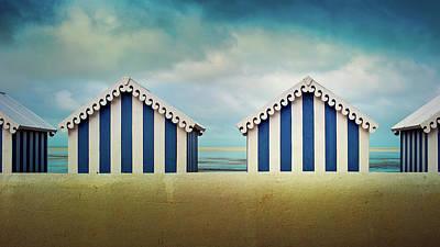 Built Structure Photograph - Beach Huts by Quicksil7er