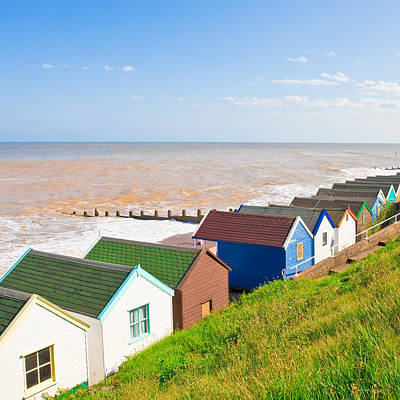Pensioner Photograph - Beach Huts by Tom Gowanlock