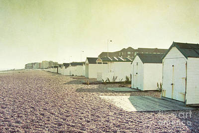 Beach Huts Print by Violet Gray