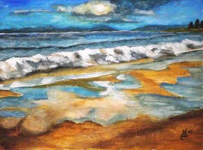Beach Reflection Print by Kim Selig