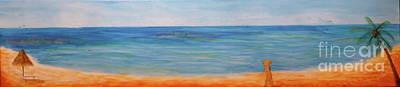 Beach Walk Print by Monika Shepherdson