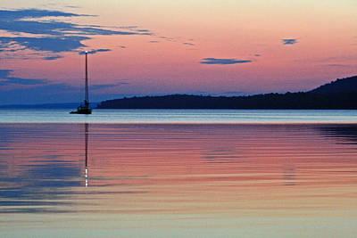 Abstract Digital Light Trails Photograph - Beachin' Hope Bay 1 by Cyryn Fyrcyd