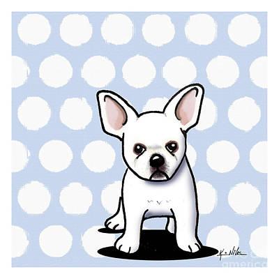 Beachy In Blue Bulldog Print by Kim Niles