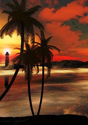 Evening Digital Art - Beacon Of Light by Lourry Legarde