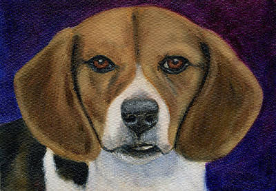 Beagle Puppy Print by Michelle Wrighton