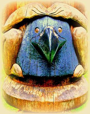 Woodcarving Photograph - Beak by Randall Weidner