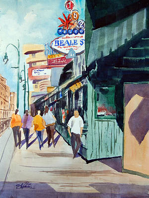 Beale Street Visual Overload Print by Ron Stephens