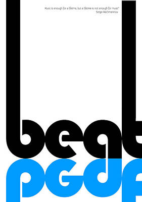 Listening Digital Art - Beat Poster by Naxart Studio