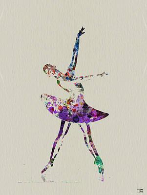 Beautiful Ballerina Print by Naxart Studio