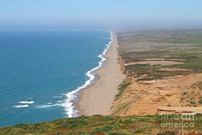 Beautiful Coastline Of Point Reyes California . 7d15965 Print by Wingsdomain Art and Photography