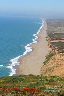 Beautiful Coastline Of Point Reyes California . 7d15968 Print by Wingsdomain Art and Photography