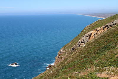 Beautiful Coastline Of Point Reyes California . 7d16017 Print by Wingsdomain Art and Photography