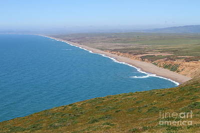 Beautiful Coastline Of Point Reyes California . 7d16028 Print by Wingsdomain Art and Photography