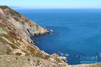 Beautiful Coastline Of Point Reyes California . 7d16036 Print by Wingsdomain Art and Photography