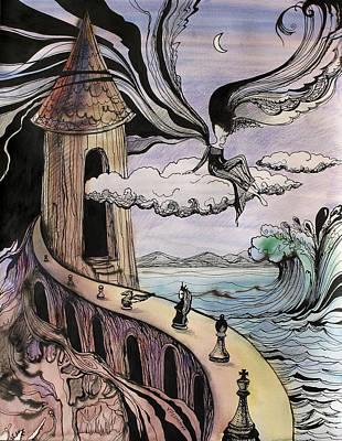 Concept Art Inks Drawing - Beautiful Equalizer by Valentina Plishchina