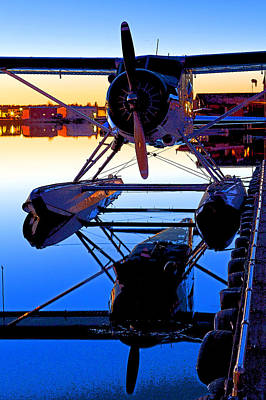Float Plane Photograph - Beaver At Twilight- Abstract by Tim Grams
