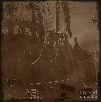 Pirate Photograph - Becalmed In A Sea Mist 3 by Blair Stuart