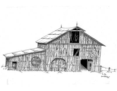 Old Barn Drawing Photograph - Becks Dairy by Donald Black