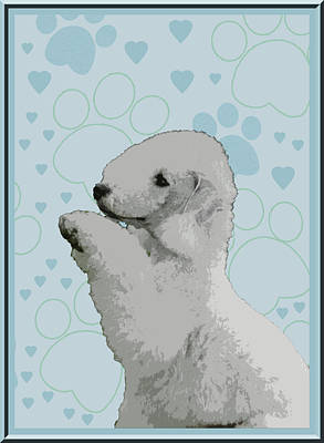 Bedlington Terrier Print by One Rude Dawg Orcutt