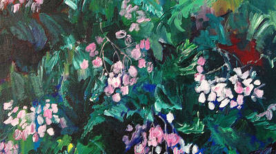 Painting - Begonias At Longwood by Carol Mangano