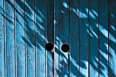 Behind  Blue Doors Print by Tal Richter