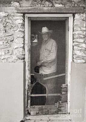 Screen Doors Photograph - Behind The Old Screen Door by Sherry Davis