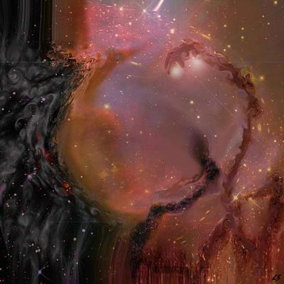 The Universe Digital Art - Behind The Universe by Linda Sannuti
