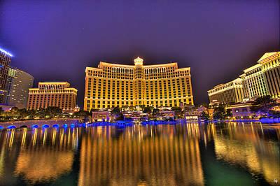 Belagio Las Vegas Print by Nicholas  Grunas