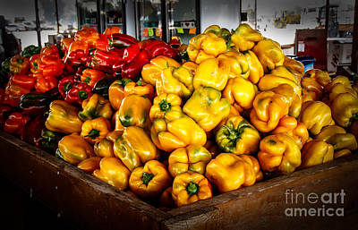 Bell Peppers Print by Robert Bales