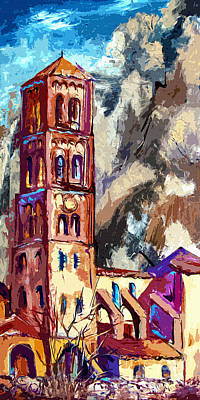 Bell Tower South Of France Print by Ginette Callaway