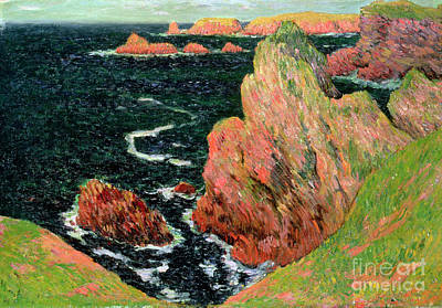 Deep Blue Painting - Belle Ile by Henry Moret