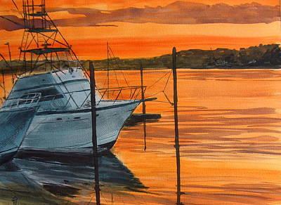 Belmar Marina Original by Pete Maier