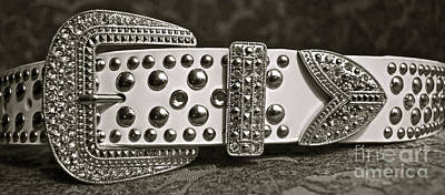 Rhinestone Photograph - Belt Bling by Gwyn Newcombe