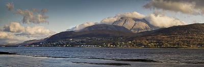Ben Nevis Photograph - Ben Nevis And Loch Linnhe Panorama by Gary Eason