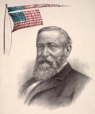Benjamin Harrison, Republican Candidate Print by Everett