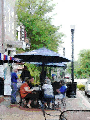 Old Town Digital Art - Bentonville On The Square by Ann Powell
