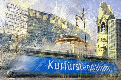 London Tube Digital Art - Berlin Composing by Melanie Viola