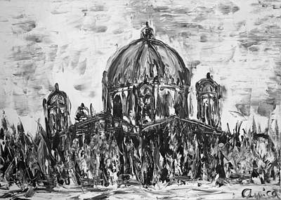 Berlin Germany Painting - Berliner Dom by Aurica Voss
