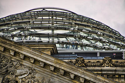 Berlins Reichstag Dome Print by Jon Berghoff