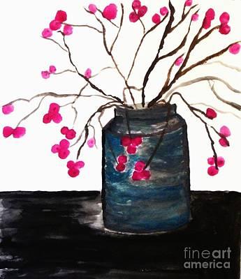 Berries In A Jar Print by Marsha Heiken