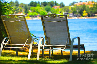Lawn Chairs Photograph - Best Seats On The Island 2 by Cheryl Young