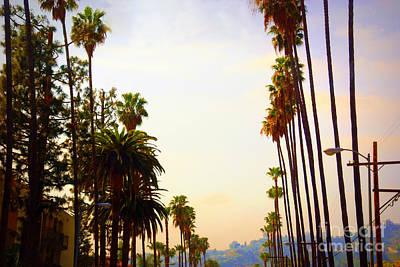 Beverly Hills In La Print by Susanne Van Hulst