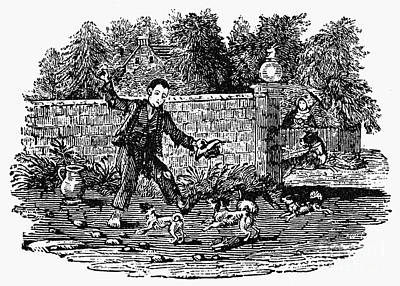 Bewick: Boy With Dogs Print by Granger