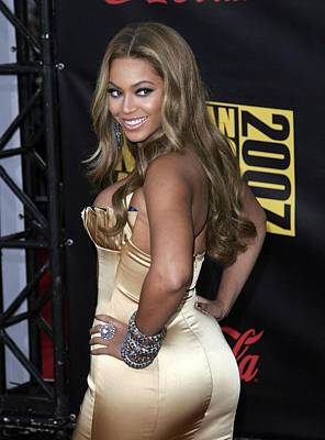 Beyonce Knowles Wearing Her Own Label Print by Everett