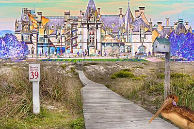 Outline Digital Art - Beyond The Beach by Betsy Knapp