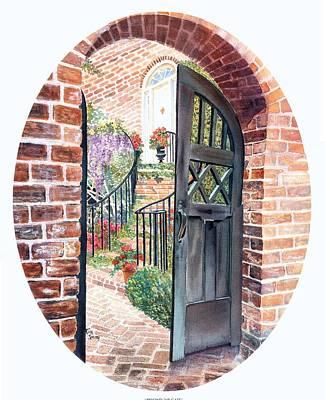 Beyond The Gate Print by Rita Smith