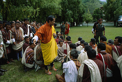 Action Portrait From Photograph - Bhutans King, Jigme Singye Wangchuck by James L. Stanfield